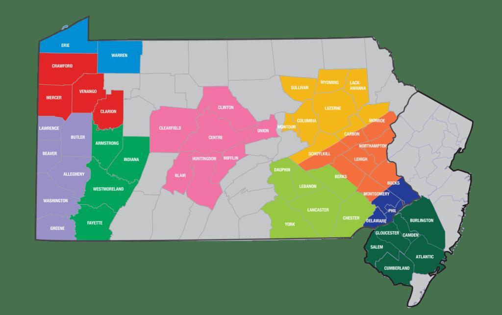 eKidzCare Service Area Map